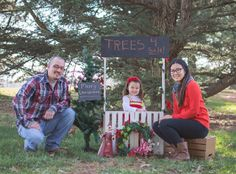 Family wit tree for sale sign https://www.facebook.com/JB.Photography.Bethalto