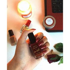 Love love love the Barry M nail polish my festive fav is the Nail Paint in 'Red Wine' check out today's Blogmas post for our simple  festive nail on thecurlyandthestraight.com what's your fV Barry M polish? #blogger #blog #blogmas #bblogger #christmas #christmascountdown #nailpolish #barrym #candle #beauty #beautyblogger #festivenails #glitter #instalike #l4l #l4l #like4like #likeforlike