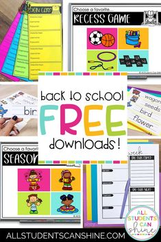 Celebrate back to school with these fun teaching freebies found on my classroom blog. These free teaching resources can be used in elementary classrooms, so that you will have fun, low-prep back to school activities and back to school resources. teacher blogs, education resources, teaching blogs, teacher blogs elementary, first grade teachers Fun Classroom Activities, Back To School Activities, Kindergarten Activities, Classroom Ideas, Free Teaching Resources, School Resources, Teaching Tips, Recess Games, First Grade Teachers
