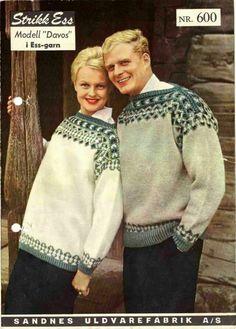 Cathrines Kreative Hjørne: Retro genser - Davos fra - Lilly is Love Fair Isle Knitting, Hand Knitting, Knitting Patterns, Knitting Sweaters, Davos, Norwegian Knitting, Men Sweater, Sweaters For Women, Vintage Knitting