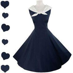A blue nautical dress in the cutest of styles! I am beginning to love nautical things :)