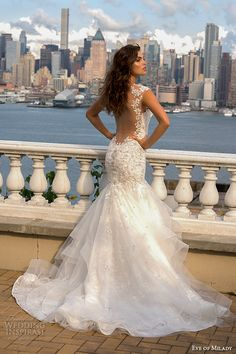 eve of milady boutique fall 2015 lace strap sweetheart neckline beaded lace applique layered mermaid wedding dress 1550