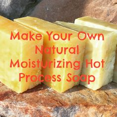 My favorite easy hot process soap recipe! Highly moisturizing, lathers  exceptionally well, and lasts a long time! That's why it's my favorite!  Picture tutorial and easy to follow directions!
