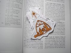 Lace Bookmark Angels of Light  Nativity by AliDianneCreations, $5.00