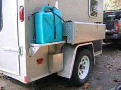 Camp Kitchen and trailer - HighTechCoonass 6x12 Enclosed Trailer, Enclosed Utility Trailers, Enclosed Trailer Camper Conversion, Utility Trailer Camper, Work Trailer, Cargo Trailer Conversion, Truck Camper, Camper Van, Small Trailer