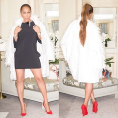 #Celine fashion show #TLLCxPFW @theladylovescouture #MarjorieHarvey dress and coat #Celine