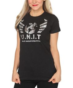 Look what I found on #zulily! Black Doctor Who 'U.N.I.T' Tee - Women & Plus by Her Universe #zulilyfinds