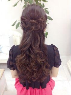 リサ 恵比寿(risa.)あみこみバレッタ風ハーフアップ Open Hairstyles, Ethnic Hairstyles, Bride Hairstyles, Hairstyles Haircuts, Indian Wedding Hairstyles, Hair Dos, Bridal Hair, Hair Inspiration, Curly Hair Styles