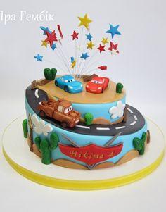cars cake (birthday cake decorating car)