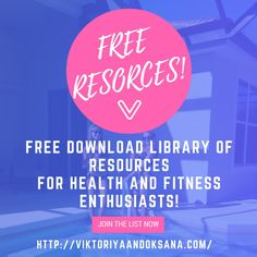 Click to get FREE access to digital downloads for health and fitness: anti-aging health and diet tips, ebooks, and plant-based recipes!  via @viktoriyaandoks