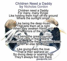 "How about a christian fathers day poem? Here's a biblical poems for fathers by Nicholas Gordon titled ""Children Need a Daddy"" Dad Poems, Fathers Day Poems, Fathers Day Messages, Fathers Day Gifts, Preschool Poems, Mother And Father, Mothers, Little Blessings, Dad Day"