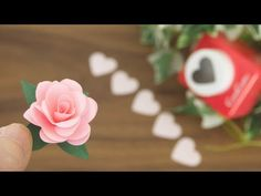 Comment faire des roses en papier - DIY How to Make Rose Paper Flower Quilling Paper Craft, Paper Crafts Origami, Origami Easy, Handmade Flowers, Diy Flowers, How To Make Rose, Papier Diy, Flower Video, Tissue Paper Flowers