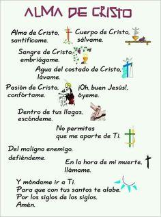 Catholic Prayers, Catholic Quotes, Religious Quotes, Spanish Prayers, Catholic Religion, Holy Rosary, Prayer Board, Catechism, God Prayer