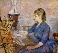 Berthe Morisot, 1841-95, Impressionismno, francesa, Paule Gobillard pintando, 1886, óleo sobre tela, 85x 94 cm, Musée Marmottan, Paris
