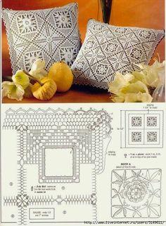 Romans z szydełkiem: Szydełkowe poduszeczki
