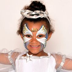 Angel - FunFace Paint Ideas - How to Face Paint | Snazaroo