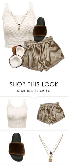 """""""coconut cream pie"""" by chanelandcoke ❤ liked on Polyvore featuring Givenchy and LowLuv"""