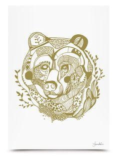 Bear Prints by Janne Kunttu, via Behance