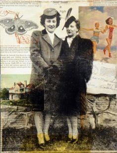 Mrs Willis, Mrs Sears - Michelle Caplan collage portraits