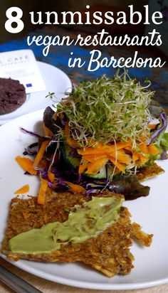 8 Best Vegan Restaurants in Barcelona (Budget Friendly) If you're vegan or vegetarian and looking for the best vegan restaurants in Barcelona, we think you'll love these healthy food options from our recent trip. Barcelona Food, Barcelona Restaurants, Barcelona Spain, Barcelona Trip, Malaga, Veggie Hotels, Best Vegan Restaurants, Vegan Restaurant Options, Vegetarian Recipes