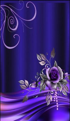 By Artist Unknown. Phone Background Wallpaper, Flower Iphone Wallpaper, Phone Screen Wallpaper, Purple Wallpaper, Butterfly Wallpaper, Blue Wallpapers, Pretty Wallpapers, New Wallpaper, Wallpaper Backgrounds