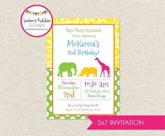 DIY Zoo/Animal Party INVITATION ONLY by LaurenHaddoxDesign on Etsy
