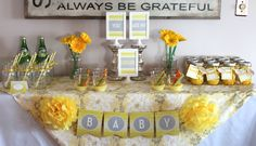 We Heart Parties: You Are My Sunshine Baby Shower Sprinkle Grey Baby Shower, Baby Shower Signs, Sunshine Baby Showers, Baby Shower Announcement, Baby Girl Baptism, Baby Gender Reveal Party, Heart Party, First Birthday Parties, Birthday Ideas
