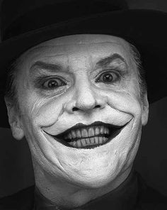 """Jack Nicholson as """"the Joker"""" (photo by Herb Ritts)"""