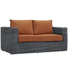 Summon Outdoor Patio Sunbrella Loveseat