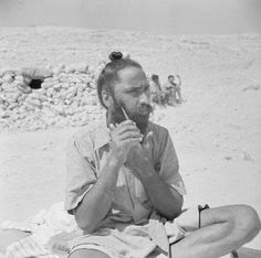 WITH THE SIKHS IN THE WESTERN DESERT.The Sikh is very proud of his beard and hair, and the following pictures show a member of a Sikh Regiment.One of the stages in the dressing of the beard and hair, a rather lengthy job to do first thing in the morning. Taken by Lt. Vanderson 06/08/41 W.O. Assignment No. 241 Source~Pinterest iwm.org.uk