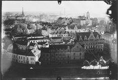 Näkymä Viipurin linnan tornista Linnoituksen kaupunginosaan – Kuva: Museovirasto/Poutvaara Matti,