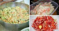 7 najlepších kapustových šalátov, ktorých príprava trvá len 5 minút! Cabbage Salad, Salad Dressing, Ham, Potato Salad, Food And Drink, Vegetarian, Chicken, Vegetables, Cooking