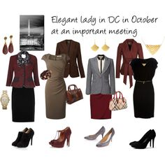 """""""Elegant lady in DC in October at a meeting"""" by professionality on Polyvore"""