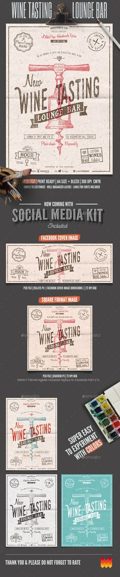 Wine Tasting Lounge Flyer/Poster — Photoshop PSD #bar #lounge • Available here → https://graphicriver.net/item/wine-tasting-lounge-flyerposter/11985596?ref=pxcr