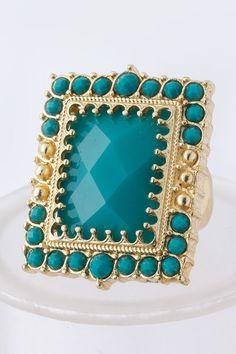 Square Jewel Ring, $10.00