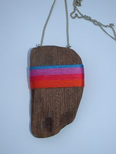 Ella Robinson wrapped driftwood necklace