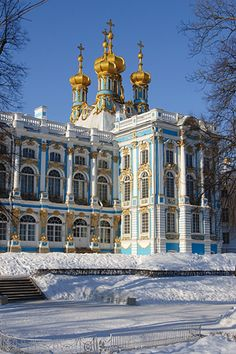 This is the palace Catherine the Great built for herself in St. Petersburg.