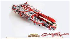 "https://flic.kr/p/qTTASo   Crimson Pilgrim   The Crimsom Pilgrim is an Old Republic era light frigate. Its crew is composed by Nidara Ludimi of the Jedi Hunters order, the padawan Nell Catagaan, ""Grayman"", and R1H2."