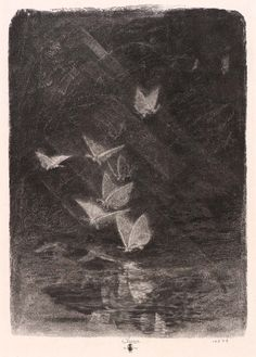 Night Moths by William Baxter Closson; photomechanical wood engraving on paper