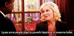 """Why Leslie Knope Is Already a Feminist Icon Get excited–""""Parks and Recreation"""" is back! We'll get to hang with Leslie, Ron, Tom, Ann, and the rest of the Pawnee parks department gang tonight for one. Leslie Knope Gif, Leslie Knope Quotes, Amy Poehler, Parks And Rec Characters, Parks And Recs, John Barrowman, Hollywood, Liz Lemon, Broad City"""