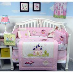 SoHo Royal Princess Baby Crib Nursery Bedding 13 pcs Set included Diaper Bag
