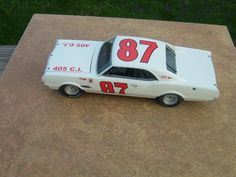 Buck Baker 1966 Oldsmobile 88, heavily modified AMT 1/25 scale kit. Decals, wheels and tires by Plastic Performance Products.