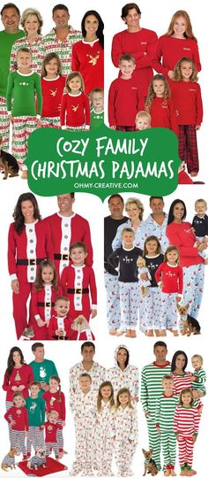 Create a memorable Christmas with these fun Cozy Family Christmas Pajamas.  What a great Christmas 8f7db156d