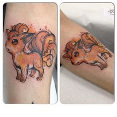 Vulpix watercolour by Josie Sexton @ The Festival Shop, Middlesbrough UK : tattoos