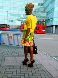 Kente.  This is a terrific look for a Saturday afternoon!