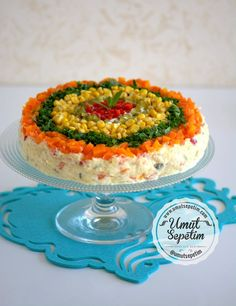 - Food & Drink The Most Delicious Desserts – Culture Trip Salad Recipes, Snack Recipes, Cooking Recipes, Snacks, Salad Cake, Fruit Salad, Vegetable Cake, Sandwich Cake, Appetizer Salads