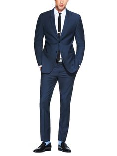 Spring/Summer suit // Calvin Klein Slim Fit Suit, with light blue socks // summer style