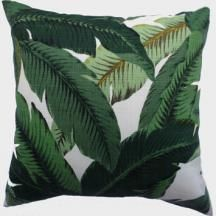 Create a plantation style with this Fab Outdoor Cushion. cover featuring deep green leaves on a linen look background. Water resistant, fade resistant and stain resistant. Fully reversible with invisible zip. Cover only. Outdoor Cushion Covers, Outdoor Cushions, Outdoor Fabric, Indoor Outdoor, Pergola Ideas For Patio, Pergola Plans, Pergola Kits, Courtyard Ideas, Outdoor Ideas
