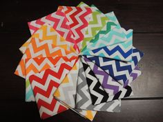 REMIX CHEVRON BUNDLE 15 Fat Quarters Total by StitchStashDiva, $37.50