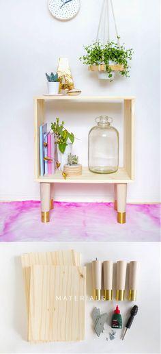 cubo mesa lateral ou criado mudo para fazer de forma fácil